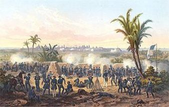 Mexican-American War: The United States declares war on Mexico