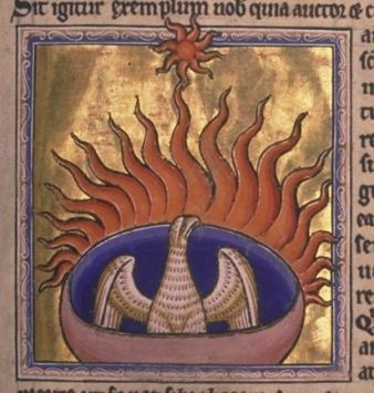Phoenix_detail_from_Aberdeen_Bestiary - photo 1